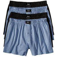 Luźniejsze bokserki (4 pary)  niebieski dżins melanż + czarny, bonprix