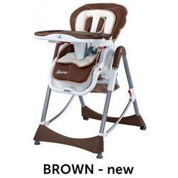 Caretero Bistro rozkładane krzesełko do karmienian Brown - produkt z kategorii- Krzesełka do karmienia