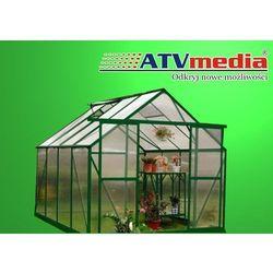 PRZYDOMOWA SZKLARNIA OGRODOWA ALUMINIOWA - 7,1 m2 - ZIELONA - MODEL ATV-A3, towar z kategorii: Szklarnie