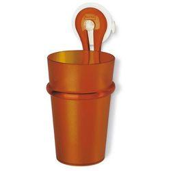 Kubek łazienkowy z uchwytem loop brązowy marki Koziol