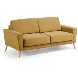 Sofa FLORIDA musztardowa - żółty, kolor żółty