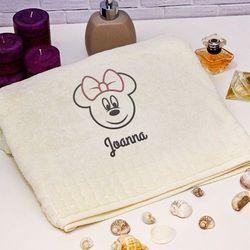 Mygiftdna Mini mouse - ręcznik z haftem - ręcznik