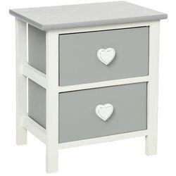 Atmosphera créateur d'intérieur Drewniany stolik nocny heart z 2 szufladami - schowek, pomocni