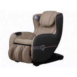 Fotel masujący KASOU z ekoskóry z diodami LED - Opcja bluetooth - Kolor beżowy