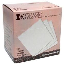 Filtry papierowe kwadratowe CHEMEX 6, 8, 10 filiżanek - 100 sztuk