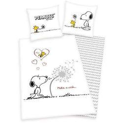 Herding Dziecięca pościel bawełniana Snoopy Życzenie, 140 x 200 cm, 70 x 90 cm