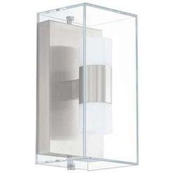 Zewnętrzna lampa ścienna benaco 94124  metalowa oprawa ogrodowa led ip44 outdoor kostka stal przezroczysty biały od producenta Eglo