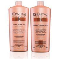 Kerastase Fluidealiste Zestaw dyscyplinujący włosy | szampon 1000ml + odżywka 1000ml (9753197531296)