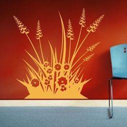 Wally - piękno dekoracji Szablon malarski kwiaty trawa 1097
