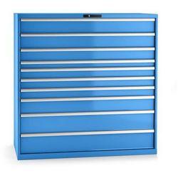 Lista Szafa z szufladami, blacha stalowa, wys.x szer. 1450x1431 mm, 10 szuflad, nośnoś