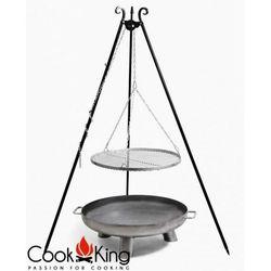 Zestaw 3w1, grill stal czarna 50cm + palenisko bali 60cm marki Cook&king
