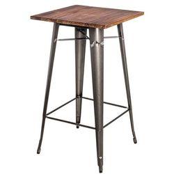 Stół barowy Paris Wood metal sosna orzech D2.DESIGN