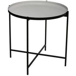 Atmosphera créateur d'intérieur Okrągły stolik kawowy, stolik do kawy, stolik do salonu, stolik do pokoju, czarny stolik, stolik metalowy, nowoczesny stolik