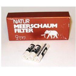 Meerschaum Filtry natur  9mm 20 szt