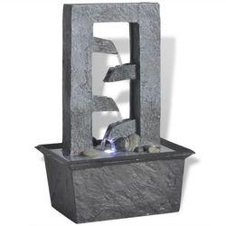 Vidaxl fontanna wewnętrzna z oświetleniem led poli żywica (8718475953104)