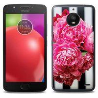 Foto Case - Motorola Moto E4 - etui na telefon Foto Case - różowe kwiaty, ETMT550FOTOFT042000