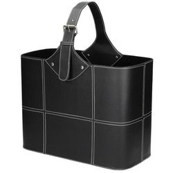 Dekoria Gazetnik Gasper Black 40x20x47cm, 40x20x47cm