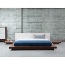 Łóżko jasnobrązowe - 180x200 cm - łóżko drewniane - styl japoński - zen od producenta Beliani