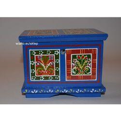 Twórczyni ludowa Skrzynia wianna zawiślecka ręcznie malowana (12,5x9x10)
