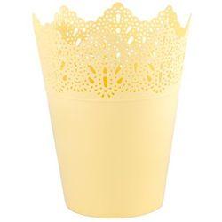 Osłonka plastikowa Koronka 15 cm, żółty