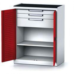 Szafa warsztatowa mechanic, 1170 x 920 x 500 mm, 2 półki, 2 szuflady, czerwone drzwi marki B2b partner