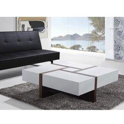 Beliani Nowoczesny stolik kawowy - ława - szuflady - 100 x 100 - evora (7081451385277)