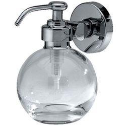 Merida Dozownik do mydła w płynie łazienkowy 0,15 litra mosiądz chromowany + szkło