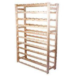 Biowin Regał drewniany na 77 butelek rb77j (5904816914931)