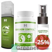 Sexual health series Orgasm control tabletki + spray + gel -  (shs)
