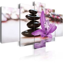 Obraz - Orchidea, kamienie i zen