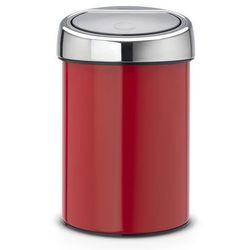 Kosz ścienny Brabantia Touch Bin newIcon 3l passion red, 36 44 26