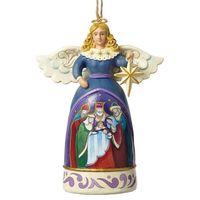 Anioł święta rodzina trzech króli zawieszka mini angel with star 4051495  marki Jim shore
