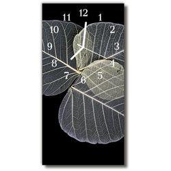 Zegar Szklany Pionowy Natura Liście roślina szary, kolor szary