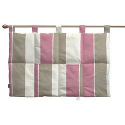 wezgłowie na szelkach, różowo-beżowo-kremowe pasy, 90 x 67 cm, cardiff do -30% marki Dekoria
