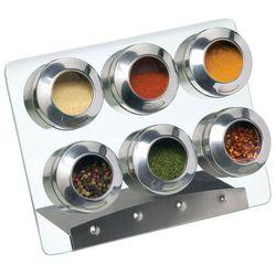 Stojak na przyprawy 6 słoiczków - Kitchen Craft, KCSPICESET