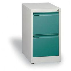 Szafa kartotekowa A4, 2 szuflady, zielone