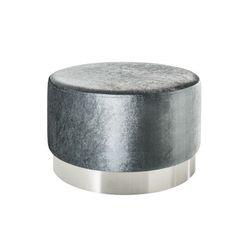 King home Pufa barock velvet wide srebrna - srebrba podstawa ho112si/lzh1-1 - - sprawdź kupon rabatowy w koszyku (4250243578712)