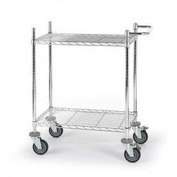 Wózek stołowy z kratą drucianą, z półkami, dł. x szer. x wys. 760x460x1025 mm, 2