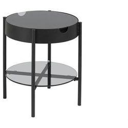 stolik szklany tipton czarny - szkło, metal marki Actona
