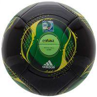 Piłka Adidas CONFED CUP GLIDER czarno-zielona - Czarno - zielony
