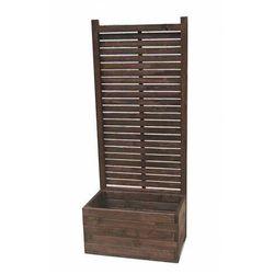 Drewniana prostokątna donica ogrodowa z pergolą - Luisa