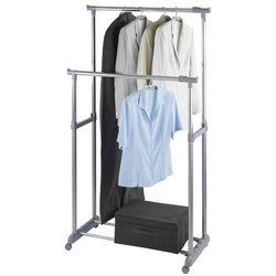 Teleskopowy wieszak na ubrania - szafa na kółkach