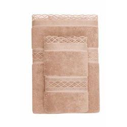 Ręcznik kąpielowy selya 85x150 cm brąz marki Soft cotton