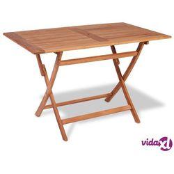vidaXL Składany stół ogrodowy z drewna tekowego, 120x70x75 cm (8718475708124)