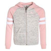 Abercrombie & Fitch COLORBLOCKED CORE FULLZIP Bluza rozpinana light grey/pink, kolor szary