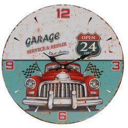 Zegar ścienny Czerwone auto, śr. 33 cm