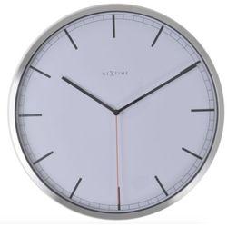 :: zegar ścienny company biały Ø35cm - biały marki Nextime