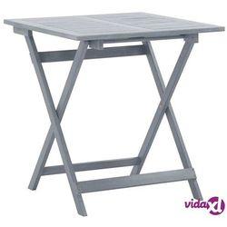 vidaXL Składany stół ogrodowy, 70x70x75 cm, lite drewno akacjowe