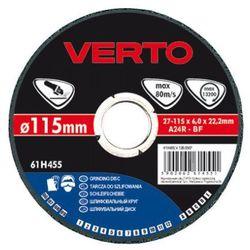 Tarcza do szlifowania VERTO 61H455 115 x 6.0 x 22.2 mm do metalu - sprawdź w wybranym sklepie