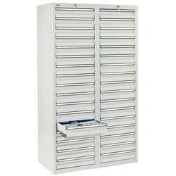 Szafka z szufladami, wys. x szer. x gł. 1800x1000x500 mm, 34 szuflady o wys. 100 marki Stumpf-metall